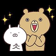 LINE無料スタンプ | うさまる in セブン-イレブン! (1)