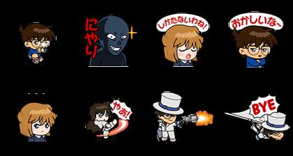 LINE無料スタンプ   名探偵コナン×レンジャーコラボレーション (2)