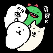 [LINE無料スタンプ] ナガノ×LINEショッピング (1)