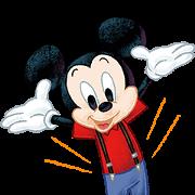 LINE無料スタンプ | 【入会特典】ミッキーマウス (1)