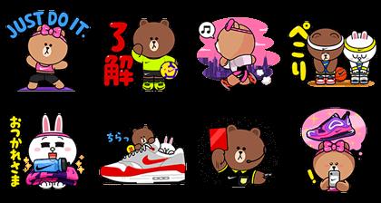[LINE無料スタンプ] NIKE☆BROWN&FRIENDS (2)