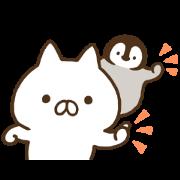 [LINE無料スタンプ] ねこぺん日和☆無料☆ (1)