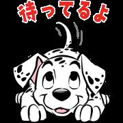 [LINE無料スタンプ] 【5月限定】101匹わんちゃん (1)