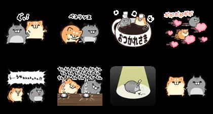 [LINE無料スタンプ] ボンレス犬&猫×ライブドアニュース (2)