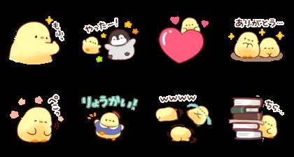 [LINE無料スタンプ] LINEノベル × もふピヨ (2)