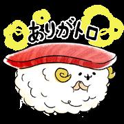 [LINE無料スタンプ] ゆるふわお届け!宅配寿司のすしーぷ (1)