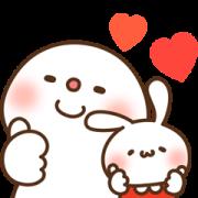[LINE無料スタンプ] ミミちゃん×饅頭とだいふくコラボスタンプ (1)
