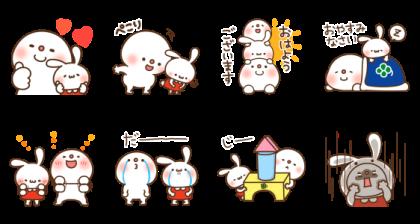 [LINE無料スタンプ] ミミちゃん×饅頭とだいふくコラボスタンプ (2)