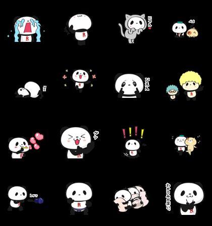 [LINE無料スタンプ] 動く!お買いものパンダ (2)