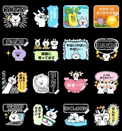 [LINE無料スタンプ] 「三ツ矢サイダー」×うさぎゅーん! (2)