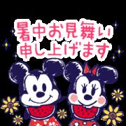 [LINE無料スタンプ] ミッキー&フレンズ(らくがきサマー) (1)
