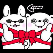 うさぎ&くま100%×LINEギフト