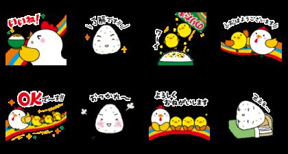 LINE無料スタンプ | のりたま・混ぜ込みわかめキャラクター (2)