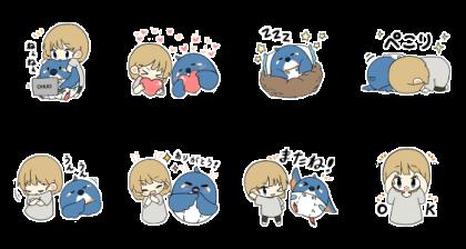 LINE無料スタンプ   カワセミと私 (2)