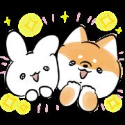 LINE無料スタンプ   ミミちゃん×ほんわかしばいぬ (1)