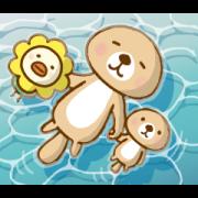 LINE無料スタンプ | オリコトリ×突撃!ラッコさん (1)