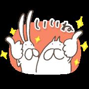 LINE無料スタンプ   ねこ&うさぎタイツ × トーク占い (1)