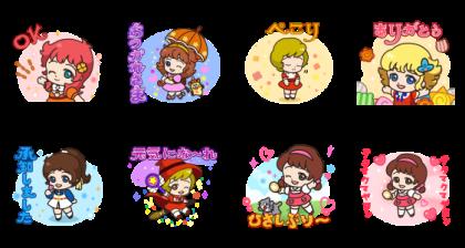 LINE無料スタンプ   POP2 × 魔女っ子コレクション (2)