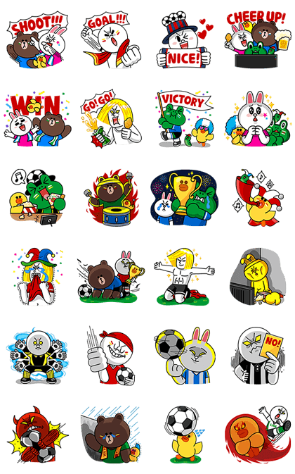 LINE無料スタンプ | LINE Characters: Soccer fever (2)