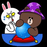 LINE無料スタンプ   開運!LINEキャラクターズおまもり (1)