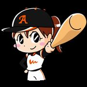 LINE無料スタンプ   女子プロ野球~夢、実現!~ (1)
