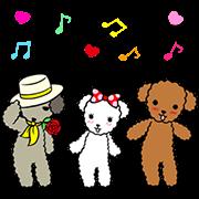LINE無料スタンプ | 動く☆ワンケルくんと楽しい仲間たち (1)