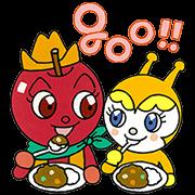 [LINE無料スタンプ] リンゴキッドとなかまたち (1)